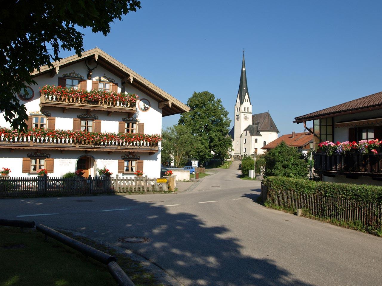 Dorfplatz Sachsenkam