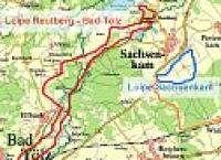 Loipenplan von Sachsenkam und Kloster Reutberg